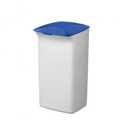 Abfall- und Wertstoffsammler mit Schanierdeckel, HxBxT 640x366x320 mm, 40 Liter, weiß/blau