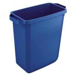 Abfall- und Wertstoffbehälter, eckig, 60 Liter, BxTxH 590x282x600 mm, blau
