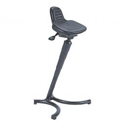 Stehhilfe, Gestell aus Stahlrohr, schwarz, Sitz aus strapazierfähigem PU-Schaum, BxT 360x260 mm