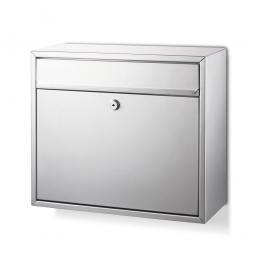 Briefkasten mit Zylinderschloss HxBxT 310 x 360 x 150 mm, silber