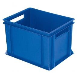 Eurobehälter mit 2 Durchfassgriffen, LxBxH 400 x 300 x 270 mm, 26 Liter, blau