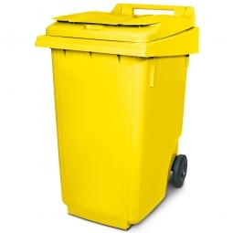 Müllbehälter, 360 Liter, gelb, BxTxH 600 x 875 x 1100 mm, Polyethylen (PE-HD)