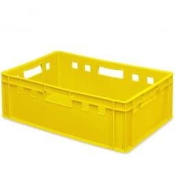 E2-Fleischkasten, LxBxH 600 x 400 x 200 mm, PE-HD, 40 Liter, gelb