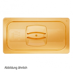 Auflagedeckel für Schale GN1/2, LxB 325x265 mm, Ultem-Kunststoff, bernsteinfarben