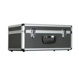 Alurahmen-Transportbox, Inhalt 25 Liter, LxBxH 475x260x210 mm, abschließbar, Farbe anthrazit
