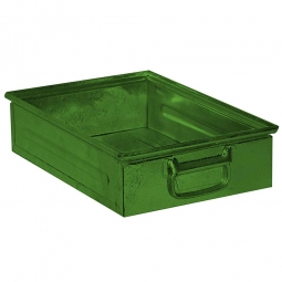 Stapelkasten ST4 aus Stahlblech, 15 Liter, LxBxH 450 x 300 x 120 mm, grün