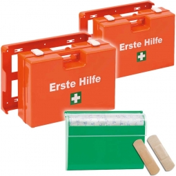 2x Erste-Hilfe-Koffer Spar-Set mit Füllung nach DIN 13157 + GRATIS: 1x Pflasterspender mit 100 Pflasterstrips