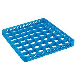 Aufsatzrahmen für Spülkörbe blau, LxB 500x500 mm, Nutzhöhe 40 mm, lichtes Fachmaß 62x62 mm
