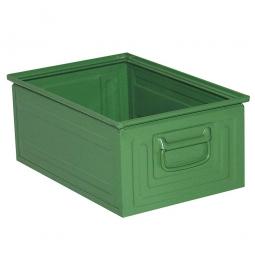 Stapelbehälter ST3 aus Stahlblech, 25 Liter, LxBxH 450 x 300 x 200 mm, grün