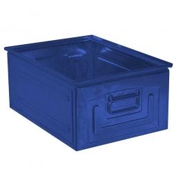 Stapelkasten ST1 aus Stahlblech, 27,5 Liter, LxBxH 500 x 300 x 200 mm, blau