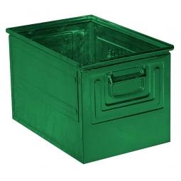 Stapelkasten ST2 aus Stahlblech, 39 Liter, LxBxH 450 x 300 x 300 mm, grün