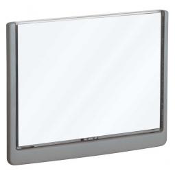Türschild aus ABS-Kunststoff mit aufklappbarem Sichtfenster, BxH 210 x 148,5 mm, graphit