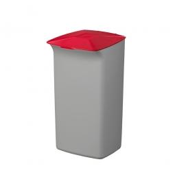 Abfall- und Wertstoffsammler mit Schanierdeckel, HxBxT 640x366x320 mm, 40 Liter, grau/rot