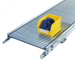 Klein-Rollenbahn, LxB 1000 x 340 mm, Bahnbreite: 300 mm, Achsabstand: 37,5 mm, Tragrollen Ø 30x1,0 mm