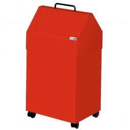 Wertstoffsammler, Inhalt 45 Liter, fahrbar, BxTxH 330x310x710 mm, rot