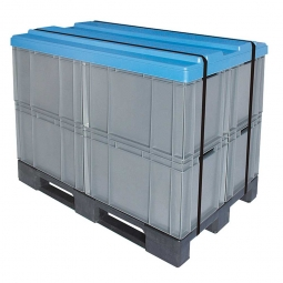 Abdeckhaube im Palettenmaß 1200x800 mm, Polypropylen-Kunststoff (PP), blau