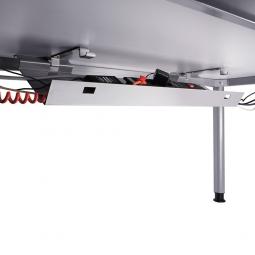 Kabelwanne, abklappbar, silber, Länge 900 mm