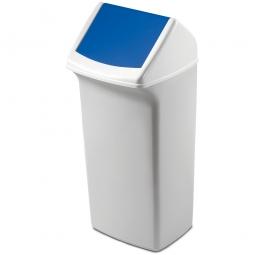 Abfall- und Wertstoffsammler mit Schwingdeckel, BxTxH 320 x 747 x 366 mm, 40 Liter
