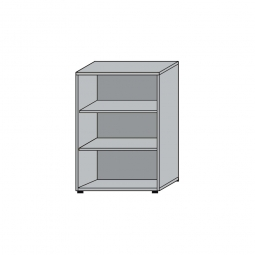 Büroregal, 3OH, Lichtgrau, HxBxT 1145x800x330 mm