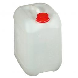 Kanister, 10 Liter, LxBxH 230 x 191 x 296 mm, Halsweite 40 mm, naturweiß