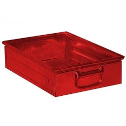 Stapelkasten ST4 aus Stahlblech, 15 Liter, LxBxH 450 x 300 x 120 mm, rot