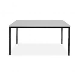 Rechtecktisch, Gestell schwarz, Platte lichtgrau, BxTxH 1400x700x720 mm