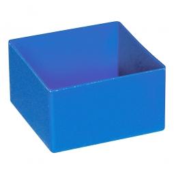 Einsatzkasten für Schubladen, blau, LxBxH 108x108x63 mm, Polystyrol-Kunststoff (PS).