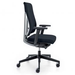 """Bürodrehsessel """"XENON"""", Farbe schwarz/grau, Rückenpolster, Synchronmechanik, Sitztiefenverstellung"""