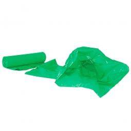 Müllsäcke 120 Liter, Stärke 40 µm, VE=250 Stück, BxH 700x1100 mm, Polyethylen-Kunststoff (PE), grün