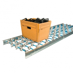 Allseiten-Röllchenbahnen, Röllchen aus Kunststoff Ø 48 mm, LxB 2000x400 mm, Achsabstand 75 mm