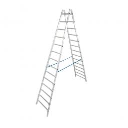 Alu-Sprossen-Doppelleiter mit 2x 14 Sprossen, Leiterhöhe 3750 mm, max. Arbeitshöhe 5400 mm