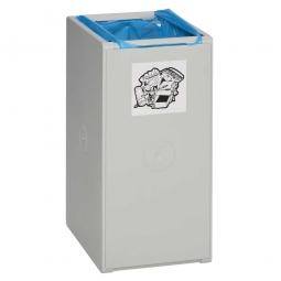 Abfall- und Wertstoff-Trennsystem, HxBxT 570 x 250 x 405 mm, 40 Liter, 1-fach, lichtgrau