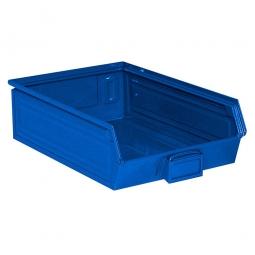 Sichtbox SB4 aus Stahlblech, 18 Liter, LxBxH 500/450 x 300 x 145 mm, blau
