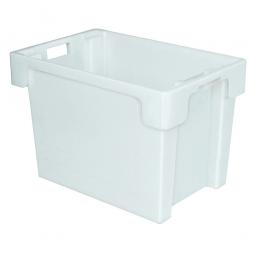Drehstapelbehälter, PP, LxBxH 600 x 400 x 400 mm, 70 Liter, weiß