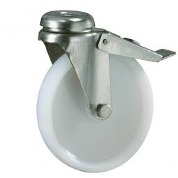 Apparate-Lenkrolle mit Feststellbremse, Rad-ØxB 50 x 18 mm, Tragkraft 55 kg