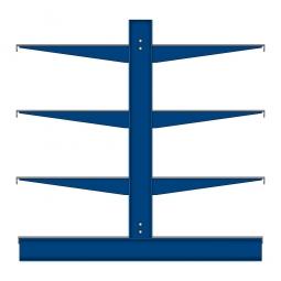 Kragarm-Anbauregal mit Fachböden, doppelseitige Nutzung, BxTxH 1060 x 1300 x 1980 mm, Gesamttragkraft 1580 kg