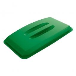 Deckel für Abfall- und Wertstoffbehälter 60 Liter, mit Griffen für leichtes Abnehmen, grün
