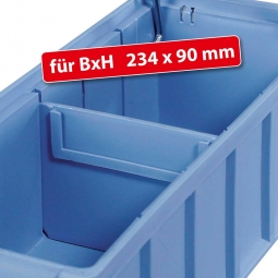 Querteiler für Regalkästen FUTURA, BxH 234 x 90 mm, blau