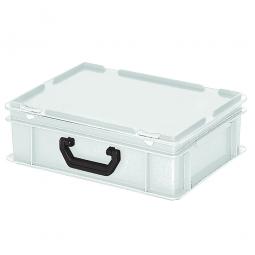Euro-Koffer, LxBxH 400x300x130 mm, weiß, mit 1 Tragegriff auf einer Längsseite