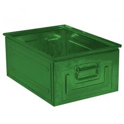 Stapelkasten ST1 aus Stahlblech, 27,5 Liter, LxBxH 500 x 300 x 200 mm, grün