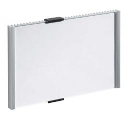 Türschild, BxH 153x215 mm, metallic-silber, Einsteckschild BxH 149x210,5 mm