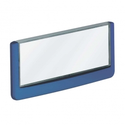 Türschild aus ABS-Kunststoff mit aufklappbarem Sichtfenster, BxH 149 x 52,5 mm, dunkelblau