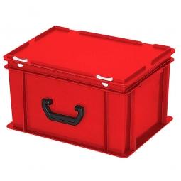 Euro-Koffer, LxBxH 400x300x230 mm, rot, mit 1 Tragegriff auf einer Längsseite