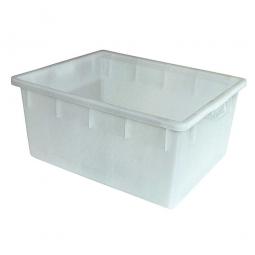 Kunststoffwanne mit umlaufendem U-Rand, 145 Liter, LxBxH 800 x 640 x 380 mm, weiß