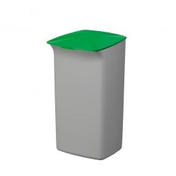 Abfall- und Wertstoffsammler mit Schanierdeckel, HxBxT 640x366x320 mm, 40 Liter, grau/grün
