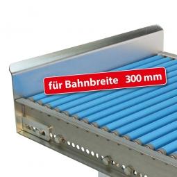 Endanschlag aus Stahlblech für Bahnbreite: 300 mm, Fest verschraubte Ausführung, Oberfläche glanzverzinkt