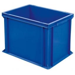 Euro-Geschirrkasten, LxBxH 400x300x320 mm, mit 2 Griffleisten, blau