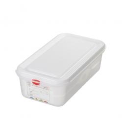 GN-Vorratsdose/Frischhaltedose GN1/3 mit Deckel, LxBxH 330 x 180 x 100 mm, 4 Liter
