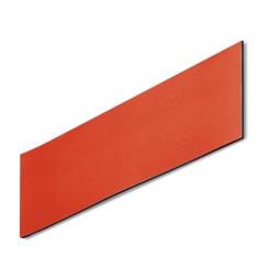 Magnetschilder, VE = 50 Stück, rot, Zuschnitt BxH 100 x 30 mm, Materialstärke: 0,9 mm
