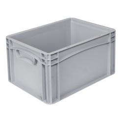 Euro-Geschirrkasten -Profi- LxBxH 400x300x220 mm, mit 2 Griffleisten, Farbe grau, Inhalt 20,8 Liter